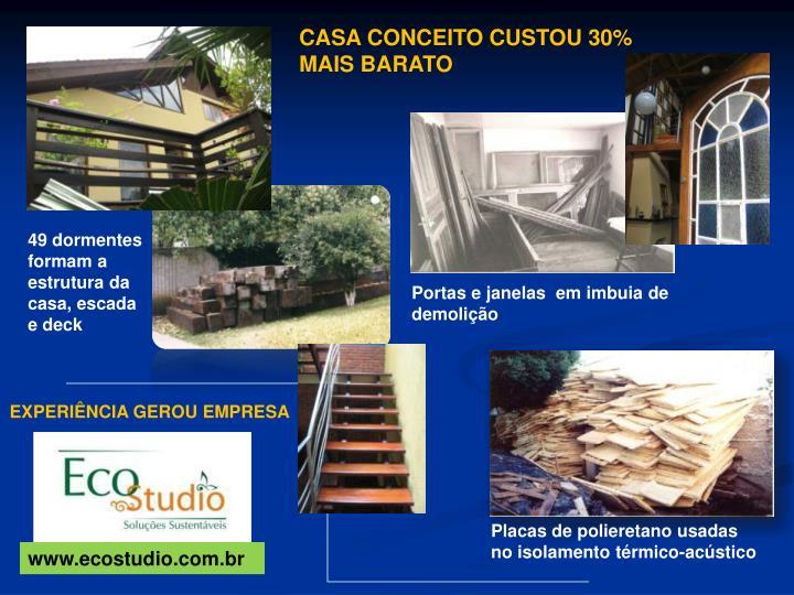 CASA CONCEITO CUSTOU 30%