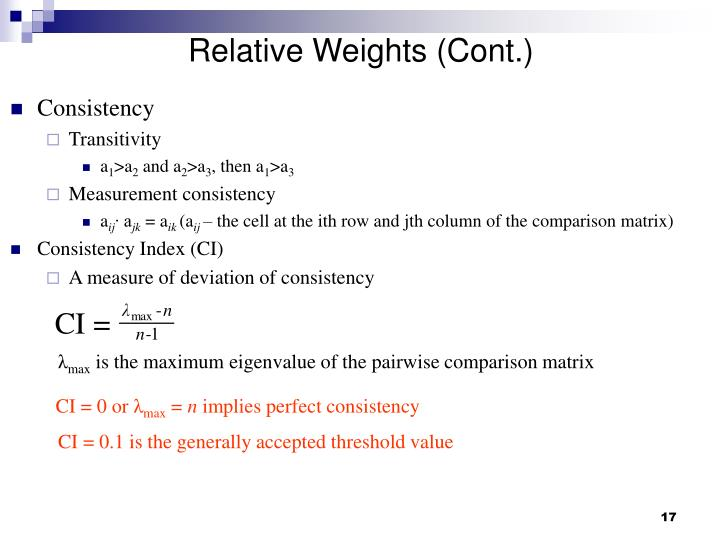 Relative Weights (Cont.)