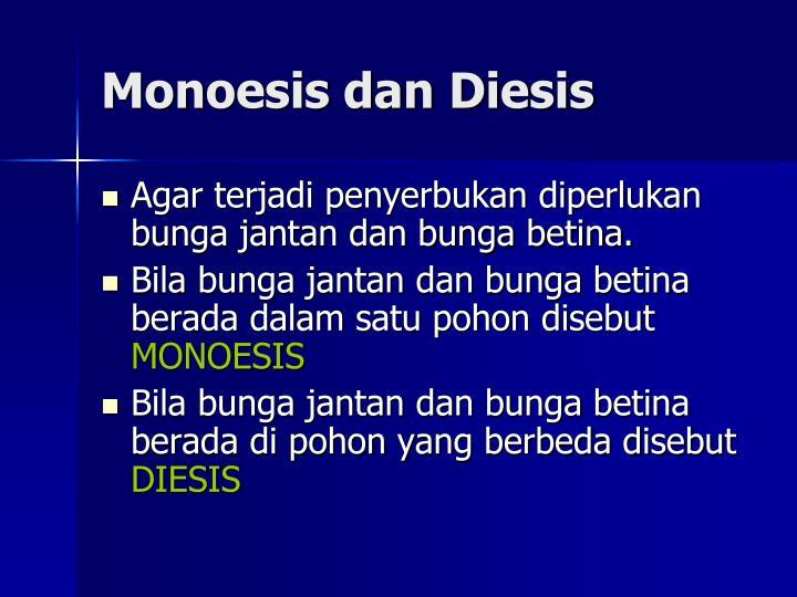 Monoesis dan Diesis