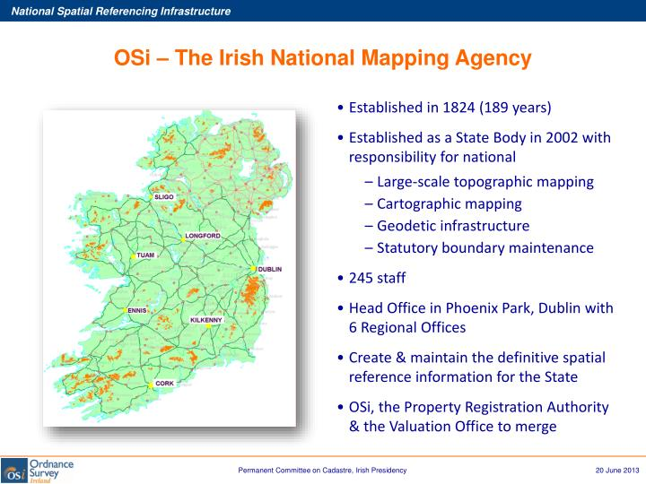 OSi – The Irish National Mapping Agency