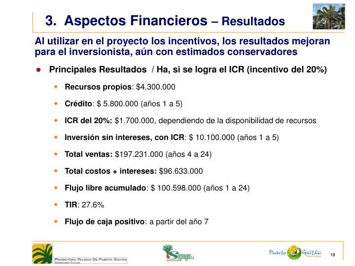 3.  Aspectos Financieros