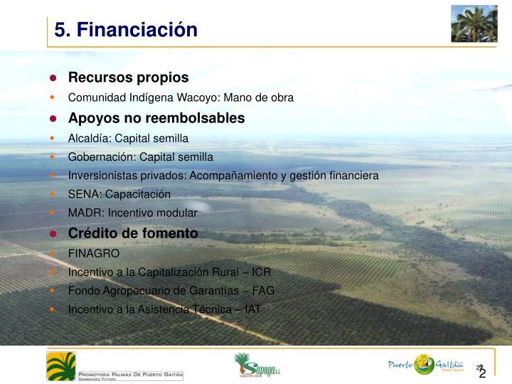 5. Financiación