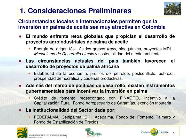 1. Consideraciones Preliminares