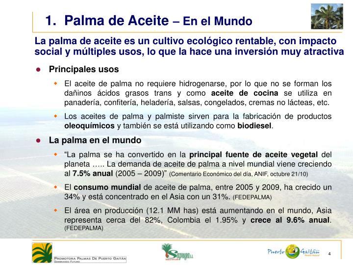 1.  Palma de Aceite