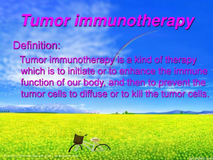 Tumor immunotherapy
