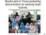 muslim girls in texas protesting discrimination for wearing head scarves