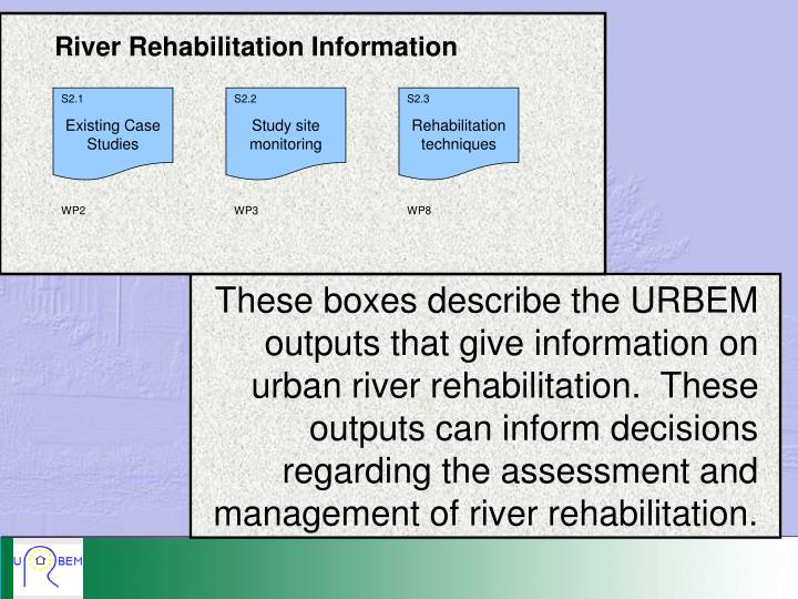 River Rehabilitation Information