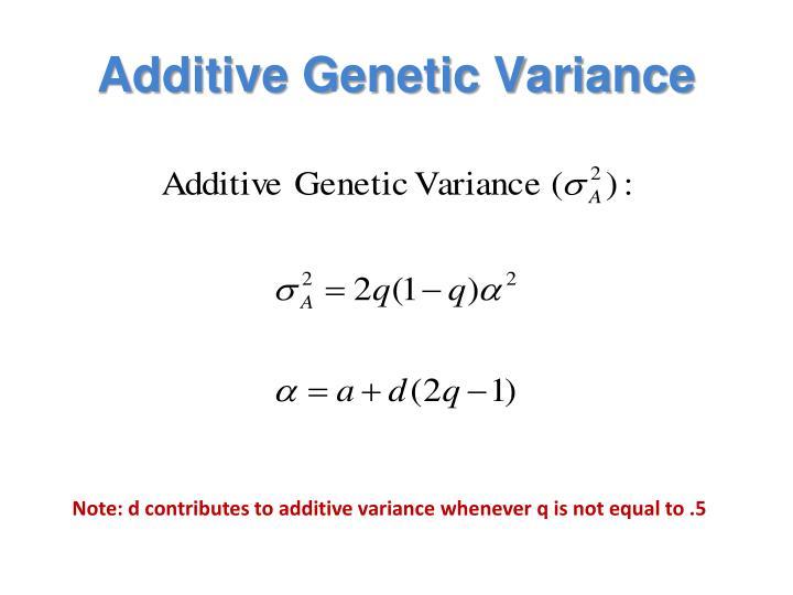 Additive Genetic Variance