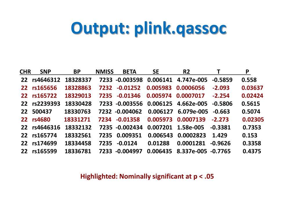 PPT - Topic #7 Single-Locus Association Studies: Case