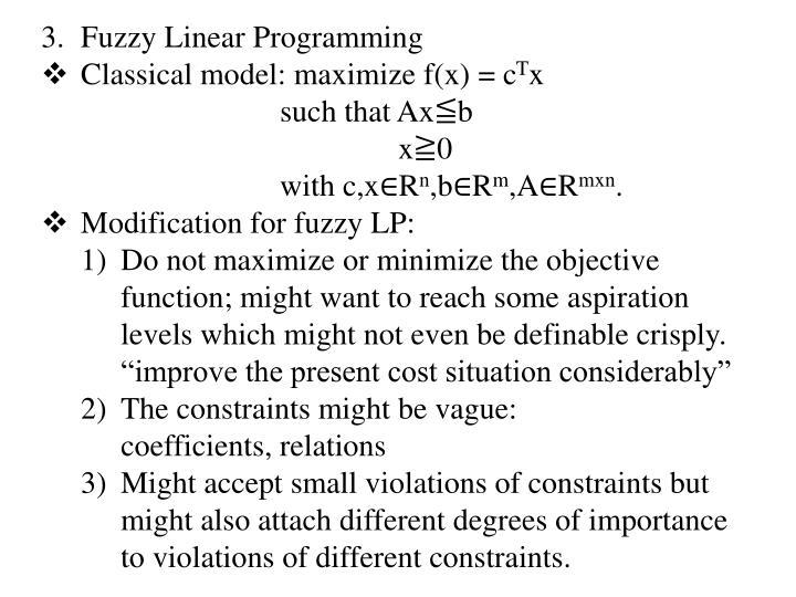 Fuzzy Linear Programming