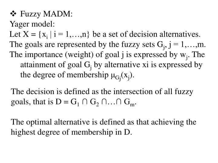 Fuzzy MADM: