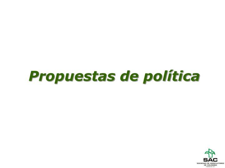 Propuestas de política