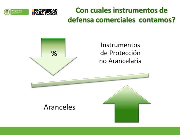 Con cuales instrumentos de defensa comerciales  contamos?