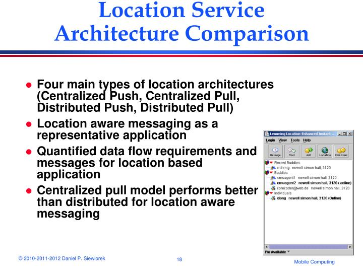 Location Service Architecture Comparison