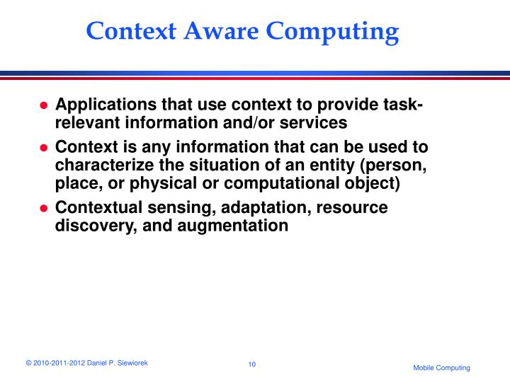 Context Aware Computing