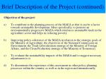 brief description of the project continued