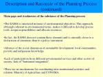 description and rationale of the planning process continued3