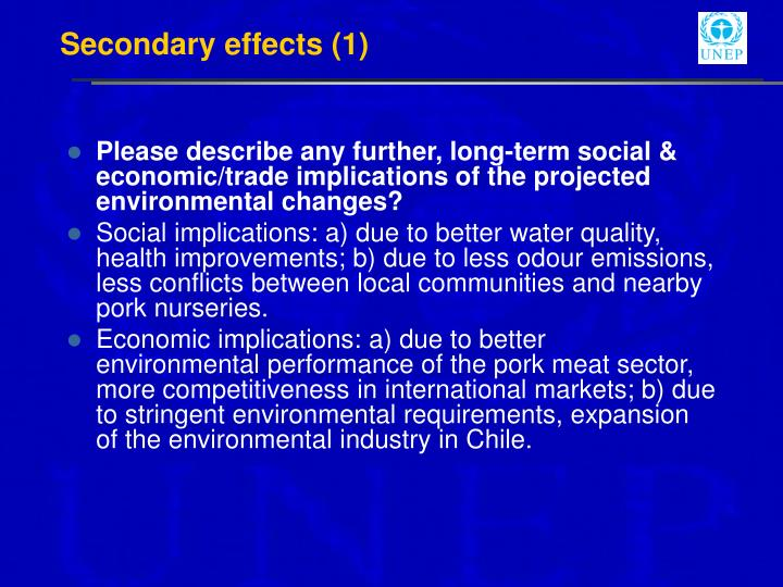 Secondary effects (1)