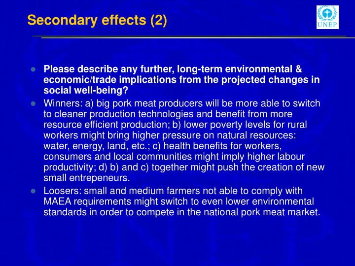 Secondary effects (2)