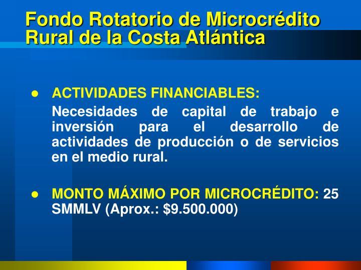 Fondo Rotatorio de Microcrédito Rural de la Costa Atlántica