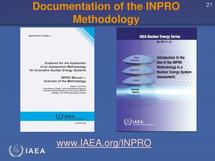 Documentation of the INPRO Methodology