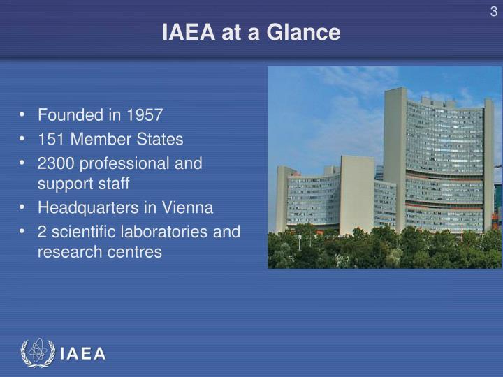 Iaea at a glance