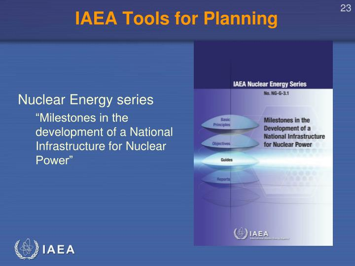 IAEA Tools for Planning