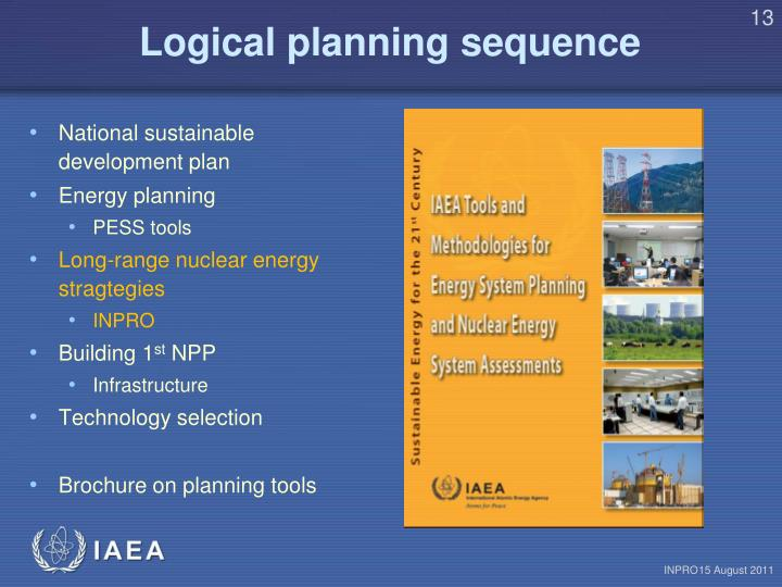 Logical planning sequence