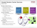 hosted solution center services overview