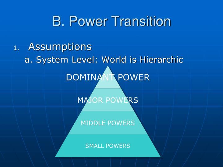 B. Power Transition