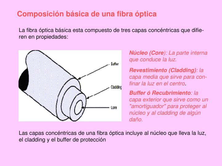 Composición básica de una fibra óptica