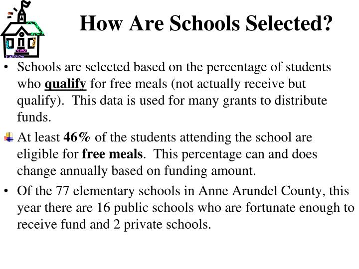 How Are Schools Selected?