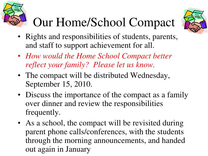 Our Home/School Compact