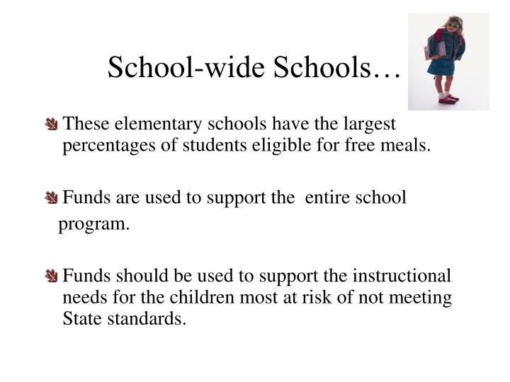 School-wide Schools…