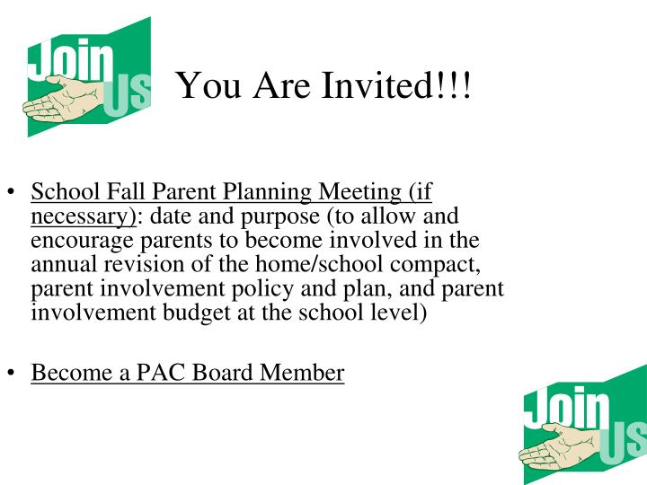 You Are Invited!!!