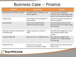 business case finance1