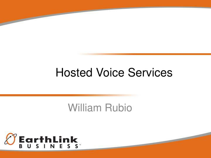 hosted voice services