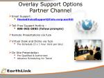 overlay support options partner channel