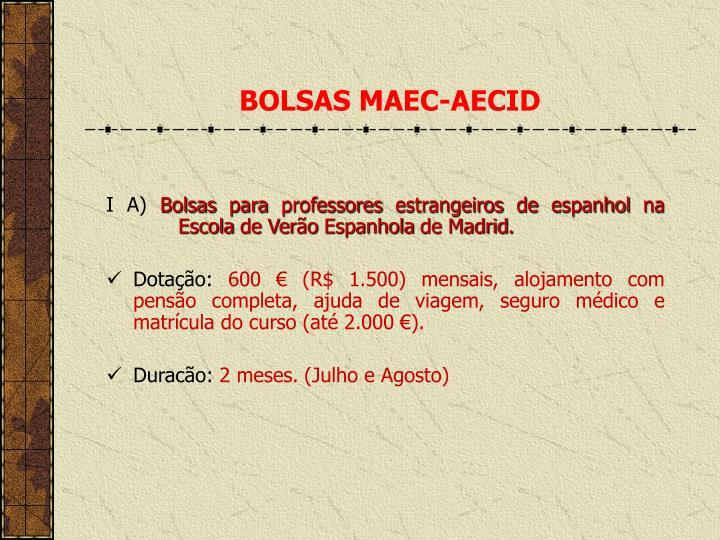 BOLSAS MAEC-AECID