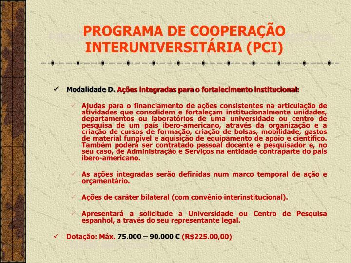 PROGRAMA DE COOPERA