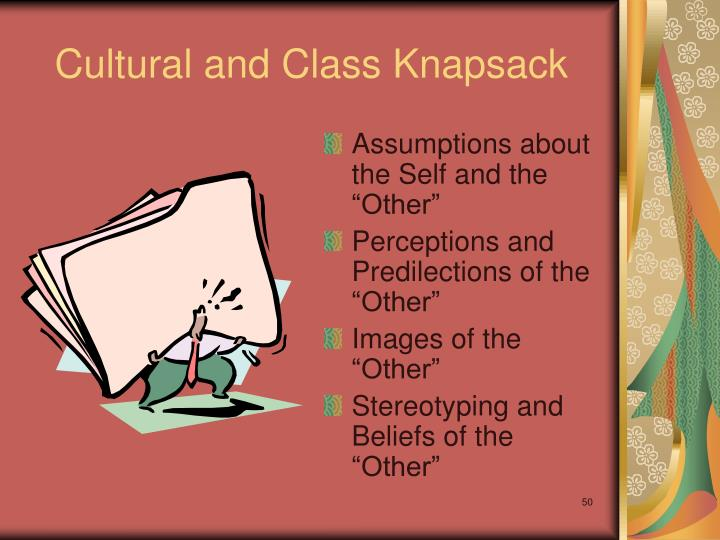 Cultural and Class Knapsack