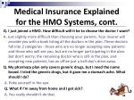 medical insurance explained for the hmo systems cont
