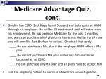 medicare advantage quiz cont