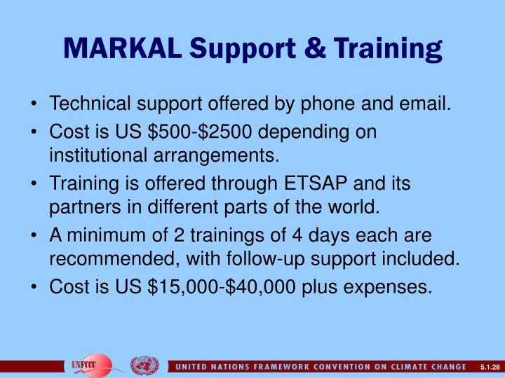 MARKAL Support & Training