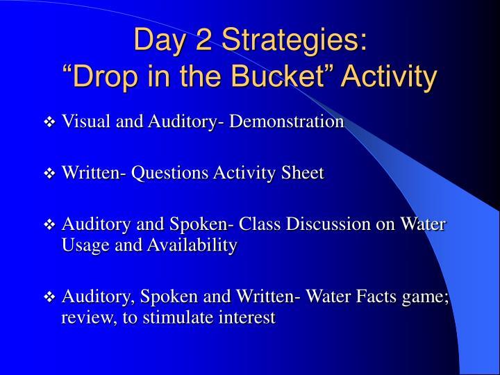 Day 2 Strategies: