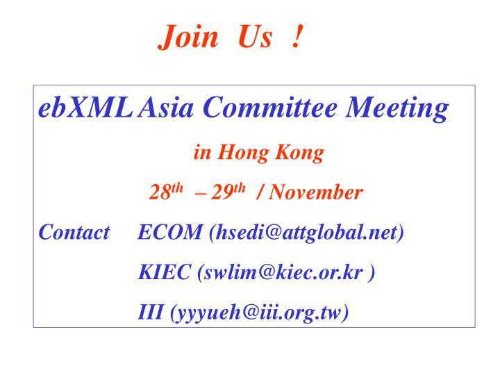 Join  Us  !