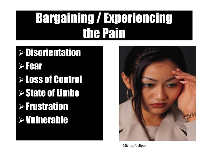 Bargaining / Experiencing
