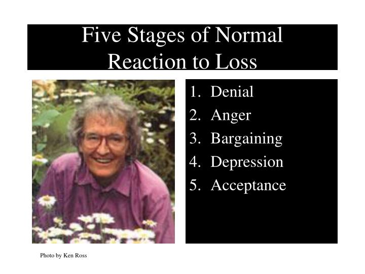 Five stages of normal reaction to loss