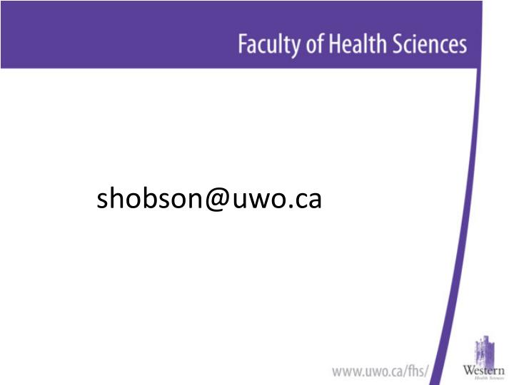 shobson@uwo.ca