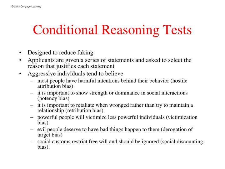 Conditional Reasoning Tests